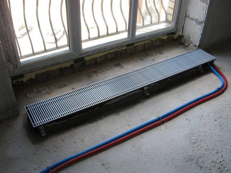 Конвекторы отопления в пол - встраиваемые радиаторы внутри пола и советы по их применению (125 фото и видео)