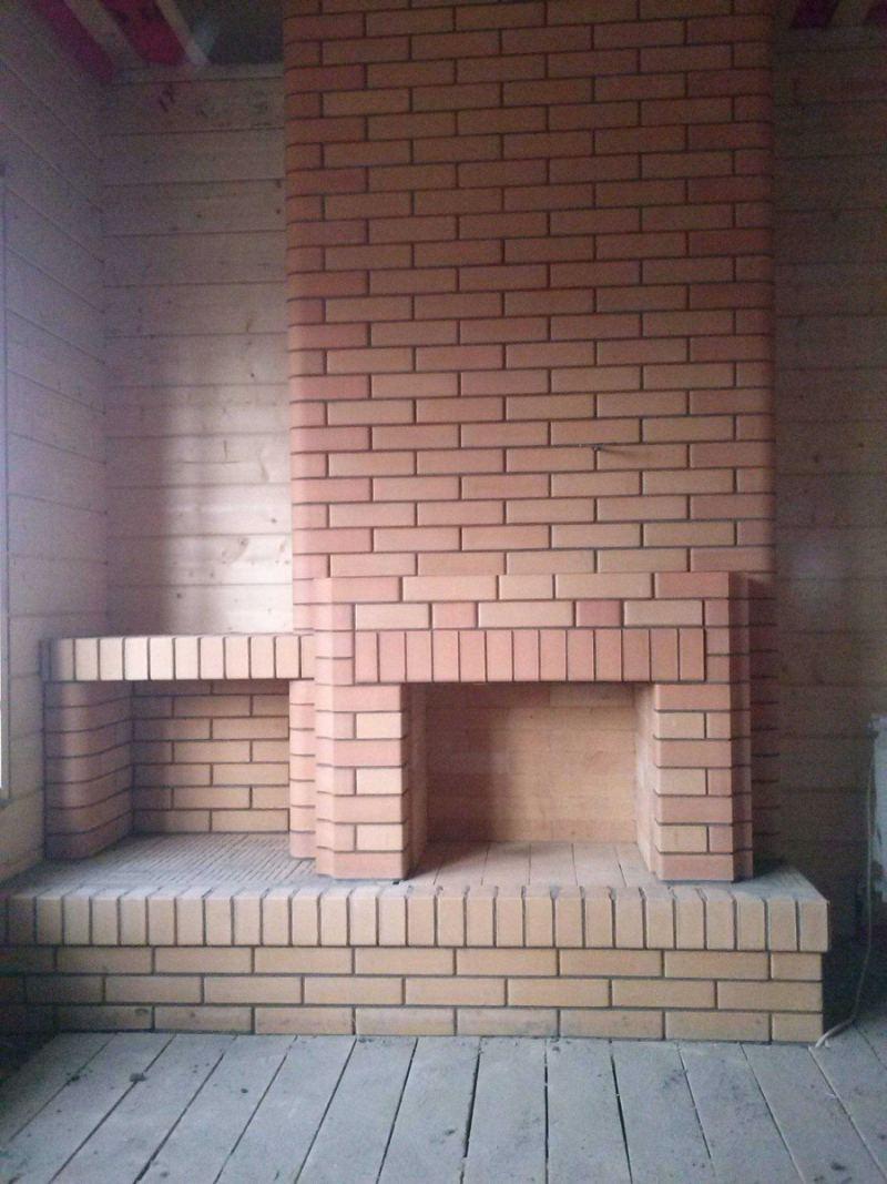 Проекты каминов из кирпича - схемы укладки, советы по выбору кирпича и лучшие идеи облицовки (130 фото)