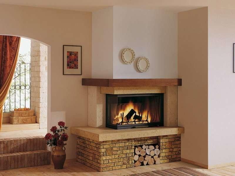 Угловой камин: советы по выбору, пошаговая инструкция по установке и особенности его использования (95 фото)