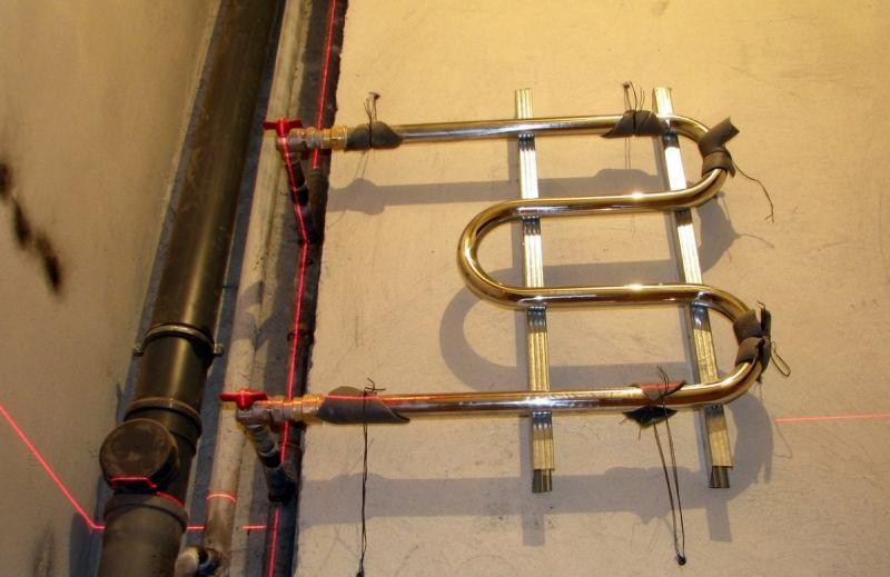 Установка полотенцесушителя - правильное подключение к системе отопления и нюансы монтажа системы (115 фото и видео)